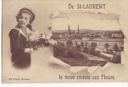 24392 De St Saint Laurent Je Vous Envoie Ces Fleurs -Lib Poupin Mortagne Sur Sevre - Mortagne Sur Sevre
