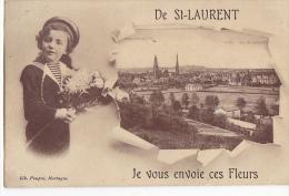 24392 De St Saint Laurent Je Vous Envoie Ces Fleurs -Lib Poupin Mortagne Sur Sevre