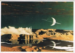 14388. Postal SATURNO Visto Desde TITAN, Astronomie, Espacio - Astronomía