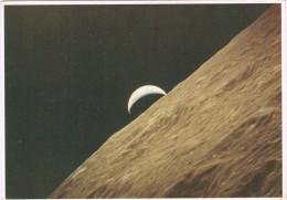 14389. Postal Horizonte LUNA Y Croissant De La Tierra 1972. Astronomie, Espacio. APOLLO 17 - Astronomía