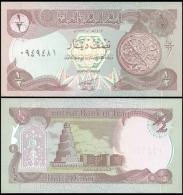 IRAQ 1/2 DINAR 1993 P 78b Lilac UNC