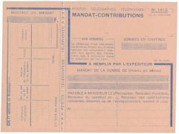MANDAT-CONTRIBUTION Formulaire N°1415 Des PTT - NEUF EN PARFAIT ETAT - Documents De La Poste