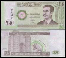 IRAQ 25 DINARS S. Hussein 2001 P 86 UNC