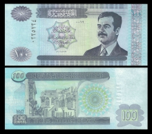 IRAQ 100 DINARS S.Hussein 2002 P 87 UNC