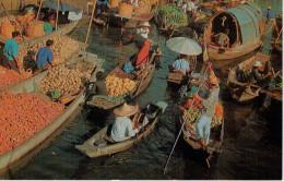 BANGKOK    MAHANAK      FLOATING  MARKET   (VIAGGIATA) - Tailandia