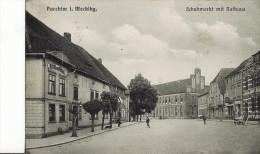PARCHIM  -  Schuhmarkt Mit Rathaus  -  Juillet 1916 - Parchim