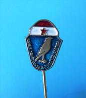 Sociedad Para La Protección De Las Aves ( Croacia Pin ) Badge Bird Oiseau Vogel Pajaro Ave Uccello Anstecknadel - Animales