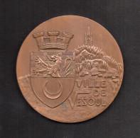 Médaille En Bronze: VILLE DE VESOUL. Graveur H. DUBOIS. - Profesionales / De Sociedad