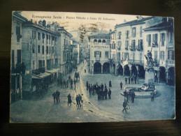 Romagnano Sesia-Novara Piazza Vittorio Usata 1920/29 Angolini Lievemente Toccati Condizioni Buone - Italy