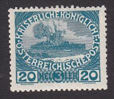 Austria, Scott #B6, Mint Hinged, Battleship, Issued 1915