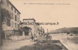 CPA 69 SAINTE-COLOMBE LES VIENNE Carte Rare Le Quai D'Herbouville Animée - France