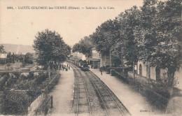 CPA 69 SAINTE-COLOMBE LES VIENNE Intérieur De La Gare , Arrivée Du Train - France