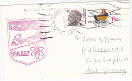 USS Bergall SSN 667 NUCLEAR SUBMARINE COVER US NAVY Usa Stamps Atomic Energy - Atom