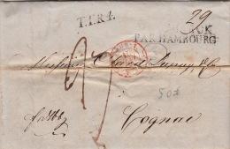 Lettre Copenhague, Danemark Par Hambourg Pour La France 1842 - Danimarca
