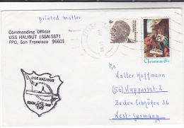 USS Halibut SSN 587 NUCLEAR SUBMARINE COVER US NAVY Usa Stamps Atomic Energy Fish - Atom