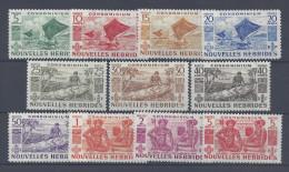 Nelles-HEBRIDES - 1953 - LEGENDE  FRANCAISE - N° 144 à 154 - X - TB - - Leyenda Francesa