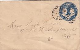 Lettre Saint Louis, Postage One Cent 1893