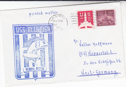 1972 USS Bluefish  SSN 675 NUCLEAR SUBMARINE COVER US NAVY Usa Stamps Atomic Energy Fish - Atom