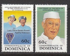 Dominica 1989, Mi no: 1288+1290 ** See Scan! Free shipping on all orders over 10 Euros. Welcome to my store!