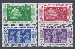 Nelles-HEBRIDES - 1956 - LEGENDE  FRANCAISE - N° 167 à 170 - X - TB - - Leyenda Francesa