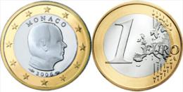 D) MONACO 1 EURO DEL 2012 USATE - Mónaco