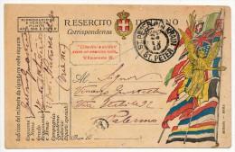 1919 S. PIETRO DEL CARSO - POSTA MILITARE - 47´ REGGIMENTO FANTERIA - 1900-44 Vittorio Emanuele III
