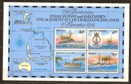 Cocos Keeling1990 Yvertn° Bloc 9 *** MNH Cote 15 Euro Bateaux Boten Ships - Cocos (Keeling) Islands