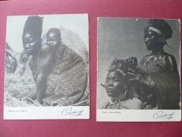2 Cartoncini Di Auguri Africa Orientale Italiana Buon Natale E Buon Anno - Altre Collezioni