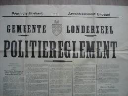 Londerzeel politiereglement voor openbare orde handhaving van 1953