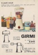 # GIRMI FRULLATORE ROBOT CUCINA 1960s Advert Pubblicità Publicitè Reklame Roboter-Kucke Household Casa Menage Haushalt - Manifesti