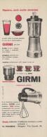 # GIRMI FRULLATORE ROBOT CUCINA 1950s Advert Pubblicità Publicitè Reklame Roboter-Kucke Household Casa Menage Haushalt - Manifesti