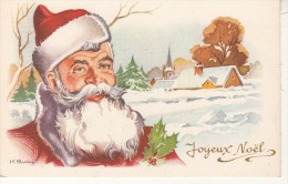 """Père Noël """" Joyeux Noël """"  De Bazin - Jolie Carte - Carrière, Louis"""