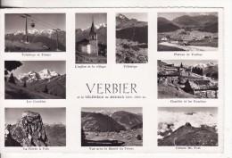 VERBIER (Suisse-Valais)  4 Vues Station 1500 M-Télésiège-Combins-Eglise-VOIR 2 SCANS - - VS Valais