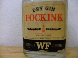 DRY GIN FOCKINK VINTAGE Año 1977 Un Litro - Licor Espirituoso