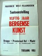 Vijftig jaar Kunst uit BERGEN NOORD-HOLLAND 28-1 tot 12-2-1961 Brugge provinciaal Hof Markt tentoonstelling