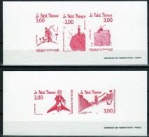 """2 GRAVURES SUR PAPIER VELIN  1998 /  """" LE PETIT PRINCE  """" - Documents Of Postal Services"""