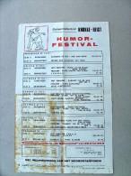 KNOKKE-HEIST Humorfestival 1971. Ravelingen en Grinnniktent. Wereldkartoenale Schaapstal. Bruine vlekken!