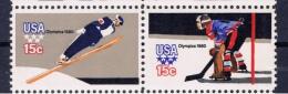 US+ 1980 Mi 1413-14 Mnh Olympische Winterspiele - Unused Stamps