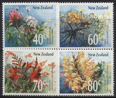 Neuseeland 1989 Blumen 1062/65 Postfrisch - Nouvelle-Zélande