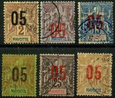 Mayotte (1912) N 21 à 26 (o) - Gebruikt