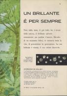 # DE BEERS UN BRILLANTE E' PER SEMPRE Italy 1960s Advert Pubblicità Publicitè Publicidad Reklame Diamond  Diamant - Diamant