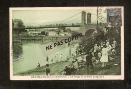 CASTILLON SUR DORDOGNE     LA PLAGE ET LE PONT SUSPENDU - France