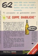 # OLIO BERIO 1960s Advert Pubblicità Publicitè Reklame Food Seasoning Oil Huile Ol Aceite - Manifesti