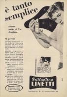 # BRILLANTINA LINETTI, ITALY 1950s Advert Pubblicità Publicitè Reklame Hair Fixer Fixateur Cheveux Fijador Haar - Profumi & Bellezza