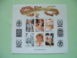 Zambia 1997 Princess Diana - MNH Sheet - Scott 706 = 4.50 $ - Zambie (1965-...)