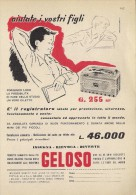 # RECORD PLAYER GELOSO ITALY 1950s Advert Pubblicità Publicitè Reklame Radio TV Tourne-Disque Giradischi Musique - Radio & TSF