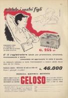 # RECORD PLAYER GELOSO ITALY 1950s Advert Pubblicità Publicitè Reklame Radio TV Tourne-Disque Giradischi Musique - Other