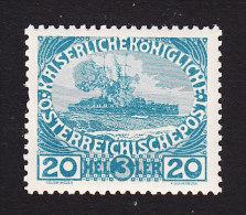 Austria, Scott  #B6, Mint Never Hinged, Battleship, Issued 1915