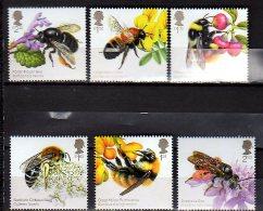 2015 UK - Honeybees Of Great Britain - Set Of 6 V Set Paper -  MNH** - Abeilles