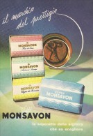 # MONSAVON, Italy 1960s Advert Pubblicità Publicitè Reklame Sapone Savon Jabon Seife - Sin Clasificación